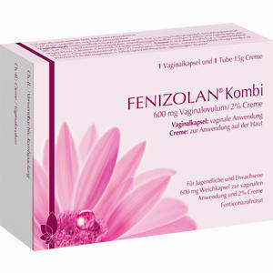 Abbildung von Fenizolan Kombi 600mg Vaginalovulum 2% Creme Weichkapseln Kombipackung 1 Packung