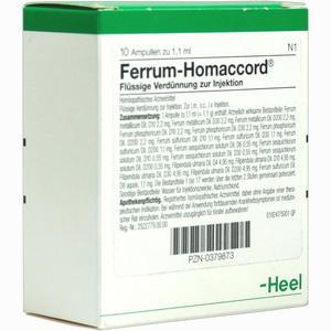 Abbildung von Ferrum Homaccord Ampullen 10 Stück