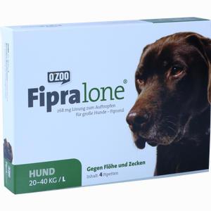 Abbildung von Fipralone 268mg Lösung Zum Auftragen für Große Hunde 4 Stück