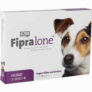 Abbildung von Fipralone 67mg Lösung Zum Auftragen für Kleine Hunde 4 Stück