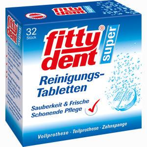 Abbildung von Fittydent Super Reinigungs- Tabletten  32 Stück