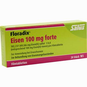 Abbildung von Floradix Eisen 100mg Forte Filmtabletten  20 Stück