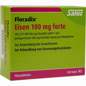 Abbildung von Floradix Eisen 100mg Forte Filmtabletten 100 Stück