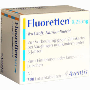 Abbildung von Fluoretten 0.25mg Lutschtabletten 300 Stück