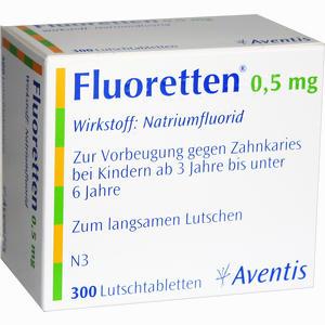 Abbildung von Fluoretten 0.5mg Tabletten 300 Stück