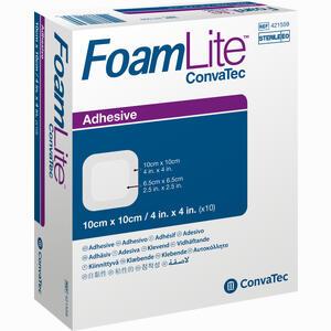Abbildung von Foam Lite Convatec Adhäsiv 10x10cm Verband 10 Stück