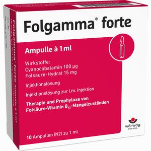 Abbildung von Folgamma Forte Ampullen 10 x 1 ml