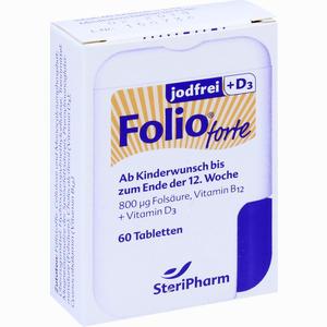 Abbildung von Folio Forte Jodfrei + D3 Filmtabletten 60 Stück