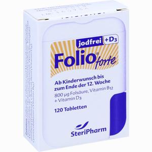 Abbildung von Folio Forte Jodfrei + D3 Filmtabletten 120 Stück