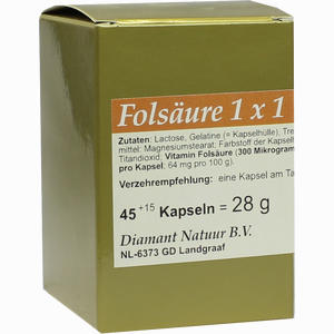 Abbildung von Folsäure 1 X 1 Pro Tag Kapseln 45 Stück