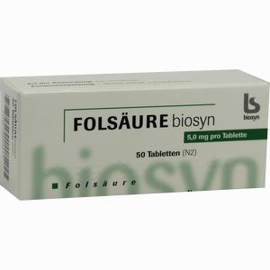 Abbildung von Folsaeure 5mg Tabletten 50 Stück