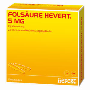 Abbildung von Folsäure Hevert 5 Mg Ampullen 100 Stück