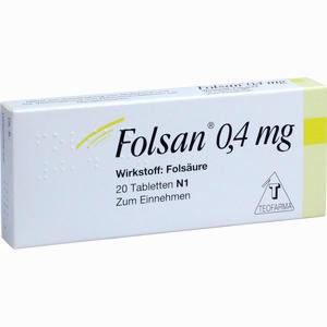 Abbildung von Folsan 0.4 Mg Tabletten 20 Stück