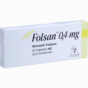 Abbildung von Folsan 0.4 Mg Tabletten 50 Stück