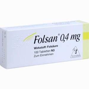 Abbildung von Folsan 0.4 Mg Tabletten 100 Stück