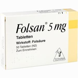 Abbildung von Folsan 5mg Tabletten 50 Stück