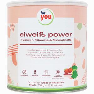 Abbildung von For You Eiweiß Power Erdbeere Pulver  750 g
