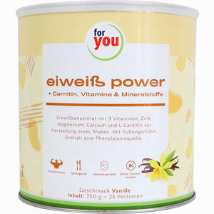 Abbildung von For You Eiweiß Power Vanille Pulver  750 g