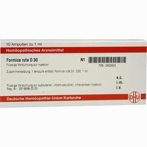 Abbildung von Formica Rufa D30 Ampullen Dhu-arzneimittel 10 x 1 ml