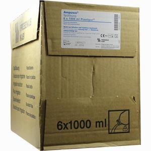 Abbildung von Fresenius Ampuwa für Spülzwecke Plastipur 6X1000 ml