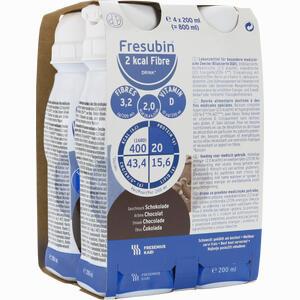 Abbildung von Fresubin 2 Kcal Fibre Drink Schokolade Trinkfla. Lösung 4 x 200 ml