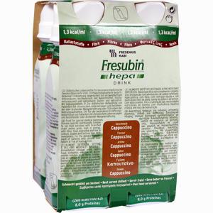 Abbildung von Fresubin Hepa Drink Cappucino Trinkflasche Lösung 4 x 200 ml