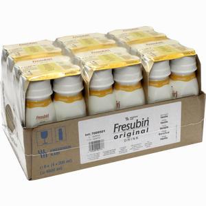 Abbildung von Fresubin Original Drink Vanille Trinkflasche Lösung 6 x 4 x 200 ml
