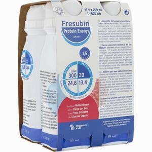 Abbildung von Fresubin Protein Energy Drink Walderdbeere Trinkflasche  4 x 200 ml