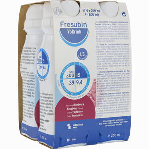 Abbildung von Fresubin Yodrink Himbeere Fluid 4 x 200 ml
