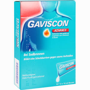 Abbildung von Gaviscon Advance Pfefferminz Suspension  12 x 10 ml