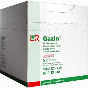 Abbildung von Gazin Mullkompresse 5 X 5cm Kompressen 25 Stück