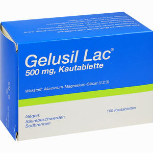 Abbildung von Gelusil Lac 500mg Kautabletten  100 Stück
