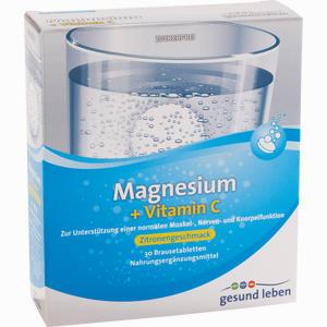 Abbildung von Gesund Leben Magnesium + Vitamin C Brausetabletten  3 x 10 Stück