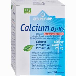 Abbildung von Gesundform Calcium D3 + K2 Tabletten  120 Stück