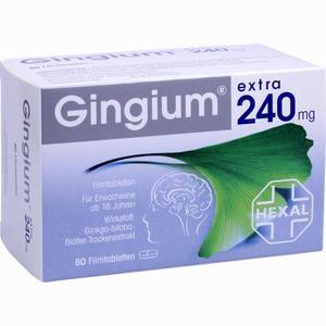 Abbildung von Gingium Extra 240mg Filmtabletten  80 Stück
