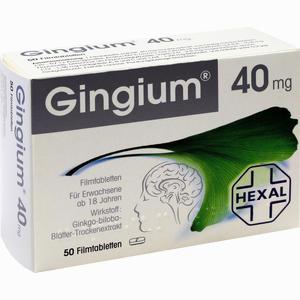 Abbildung von Gingium Filmtabletten  50 Stück