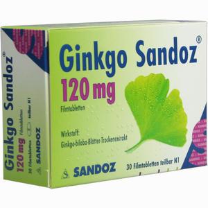 Abbildung von Ginkgo Sandoz 120mg Filmtabletten  30 Stück