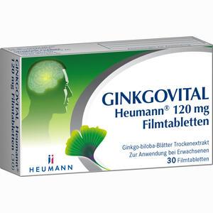 Abbildung von Ginkgovital Heumann 120 Mg Filmtabletten  30 Stück
