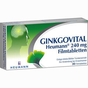 Abbildung von Ginkgovital Heumann 240 Mg Filmtabletten  30 Stück