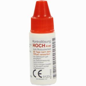 Abbildung von Gluco- Test Plus Kontrolllösung Hoch  4 ml