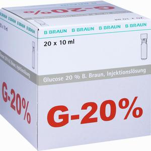 Abbildung von Glucose 20% Braun Mini- Plasco Connect Injektionslösung 20 x 10 ml