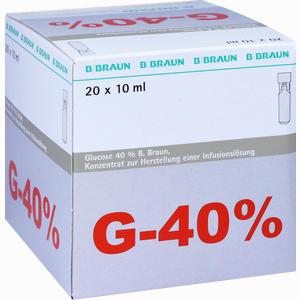 Abbildung von Glucose 40% Braun Mini- Plasco Connect Infusionslösungskonzentrat 20 x 10 ml