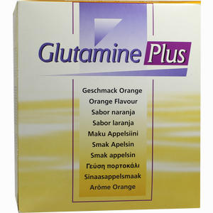 Abbildung von Glutamine Plus Orange Pulver 30 x 22.4 g