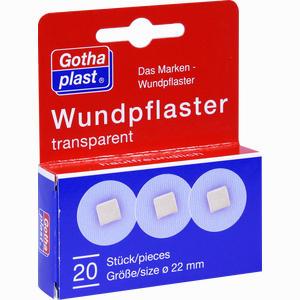 Abbildung von Gothaplast Wundpflaster Transparent Durchmesser 2.5cm  20 Stück
