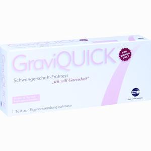 Abbildung von Graviquick Schwangerschaft- Frühtest  1 Stück