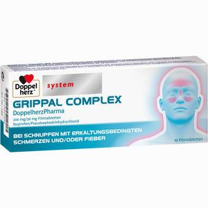 Abbildung von Grippal Complex Doppelherzpharma 200 Mg/30 Mg Filmtabletten 10 Stück
