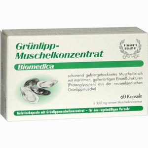 Abbildung von Gruenlipp Muschelkonzentrat Kapseln 60 Stück
