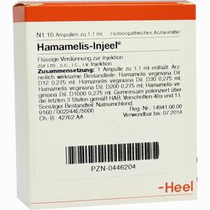 Abbildung von Hamamelis- Injeel Ampullen  10 Stück