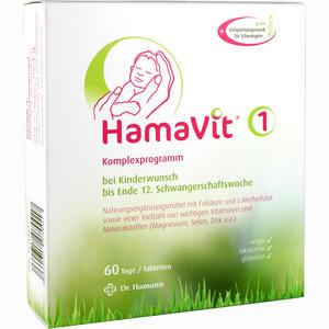 Abbildung von Hamavit 1 Kinderwunsch und Schwangerschaft Tabletten 60 Stück