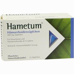 Abbildung von Hametum Hämorrhoiden Zäpfchen  25 Stück